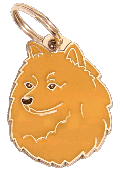 GERMAN SPITZ RED - pet ID tag, dog ID tags, pet tags, personalized pet tags MjavHov - engraved pet tags online